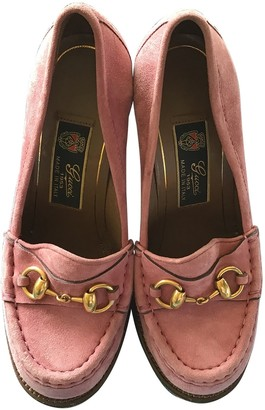 Gucci Pink Suede Flats