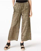 Eileen Fisher Silk & Organic Cotton Cropped Wide-Leg Pants