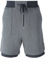 Helmut Lang contrast hem shorts