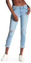 Just USA Frayed Hem Cropped Skinny Jeans (Juniors)