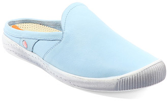 Fly London Softinos By Softinos by Women's Mules 000 - Pastel Blue Imo Washed Leather Mule - Women