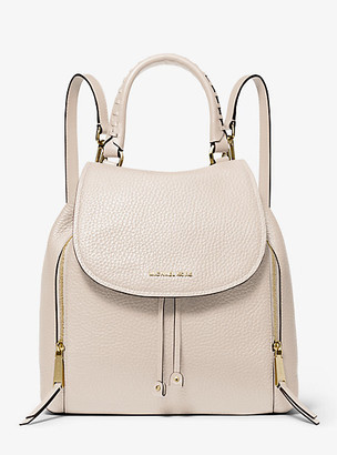 MICHAEL Michael Kors MK Viv Large Leather Backpack - Light Sand - Michael Kors