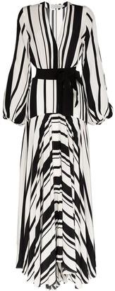 Silvia Tcherassi Filomena V-neck striped dress