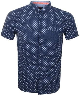 Superdry Premium Short Sleeved Shirt Navy