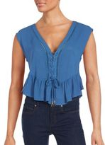 MinkPink Ruffled Sleeveless Top