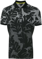 Diesel leaf print polo shirt