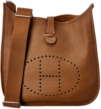 Hermes Brown Clemence Leather Evelyne Iii Pm