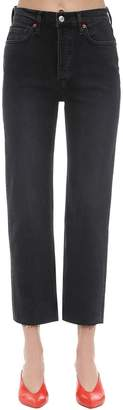 RE/DONE Re Done High Rise Stovepipe Stretch Denim Jeans