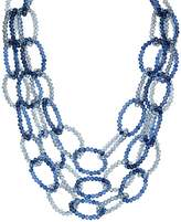 """Aqua Beaded Layered Link Necklace, 18"""" - 100% Exclusive"""