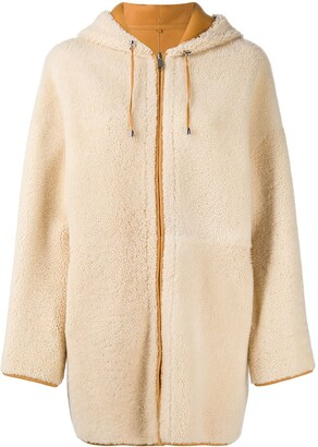 P.A.R.O.S.H. Shearling Hooded Coat