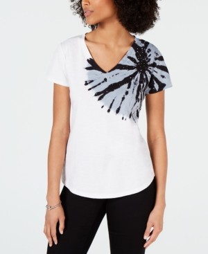 INC International Concepts Inc V-Neck Tie-Dye T-Shirt, Created for Macy's