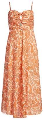 Zimmermann Peggy Bow-Tie Midi Dress