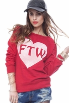 Local Celebrity For The Win Erin Sweater in Red