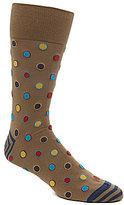 Johnston & Murphy Men's Framed Dot Socks