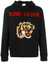 Gucci tiger applique hoodie