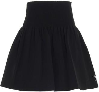 Kenzo Logo Print Pleated Mini Skirt