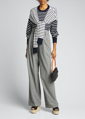 Michael Kors High-Waist Pleated Pants