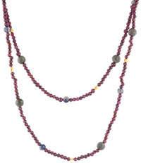 "Gurhan 24K Single-Strand Mixed-Stone Necklace, 32""L"
