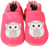 Robeez Fuchsia Owl Playmates Leather Bootie