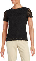 Calvin Klein Crinkled Lace Tee
