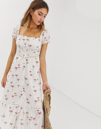 Rahi Cali Rahi Staycation lace palm print maxi dress