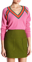 Minnie Rose Raglan Long Sleeve Cashmere Sweater