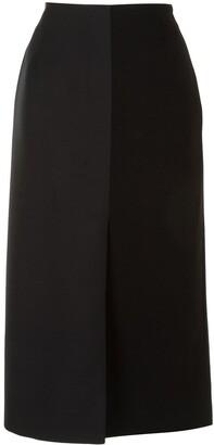 Agnona Panelled Mid-Length Skirt
