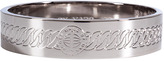 Marc by Marc Jacobs Silver-Toned Engraved Turnlock Bangle