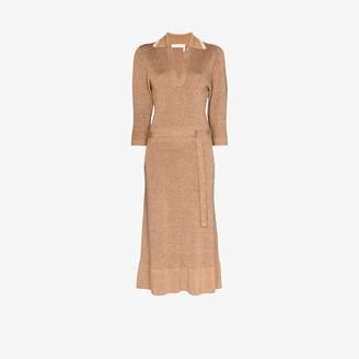 Chloé Polo Knit Midi Dress