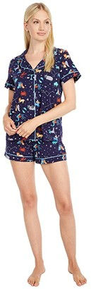 Bedhead Pajamas Short Sleeve Classic Shorty Pajama Set (Leader of the Pack) Women's Pajama Sets