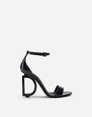 Dolce & Gabbana Patent Leather Sandals With Heel