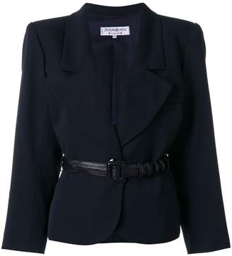 Saint Laurent Pre-Owned belted blazer