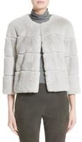 St. John Women's Genuine Rex Rabbit Fur Jacket