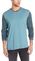 Agave Men's Nichols Long Sleeve Baseball V-Neck T-Shirt