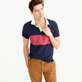 J.Crew Short-sleeve rugby polo shirt in navy