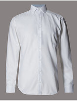 Autograph 2in Longer Supima® Cotton Basket Weave Shirt