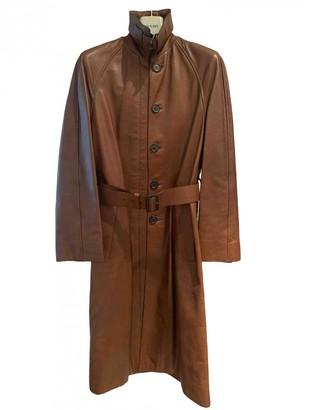 Prada Brown Leather Coats