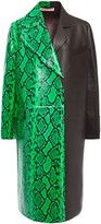 Marni Snake-effect And Pebbled-leather Coat