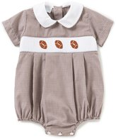 Edgehill Collection Baby Boys 3-9 Months Checked Football-Embroidered Bodysuit