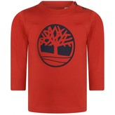 Timberland TimberlandBaby Boys Red Cotton Logo Top