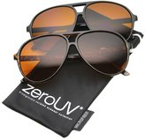 Zerouv Retro 80s Vintage Blue Blocking XL Large Plastic Aviator Sunglasses