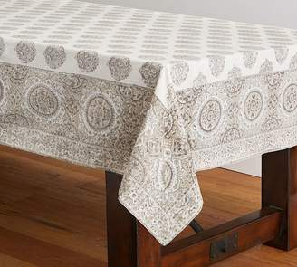 Pottery Barn Block Print Medallion Tablecloth