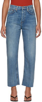 RE/DONE Blue High-Rise Stove Pipe Jeans