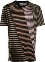 Lanvin striped panel T-shirt