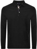Aquascutum London Placket Polo T Shirt Black