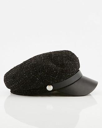 Le Château Boucle & Faux Leather Poor Boy Hat