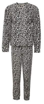 Dorothy Perkins Womens Black Leopard Pyjama Set, Black