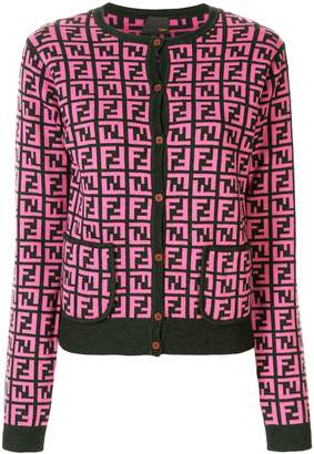 Fendi Pre-Owned Zucca pattern knitted cardigan