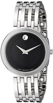 Movado Women's Swiss Quartz Stainless Steel Casual Watch, Color:Silver-Toned (Model: 0607051)