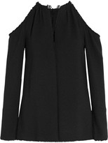 Proenza Schouler Embellished Cutout Crepe Top - Black